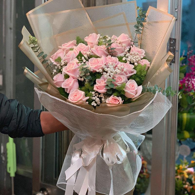 24支粉玫瑰花束