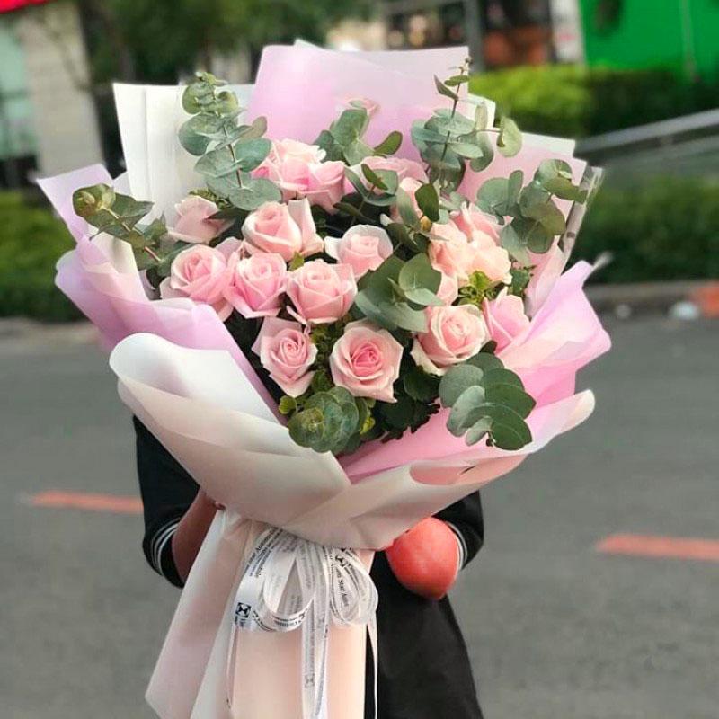 19支粉玫瑰花束 新加坡 马来西亚 泰国 越南 柬埔寨 老挝 印尼 菲律宾 印度 巴基斯坦 国际送花