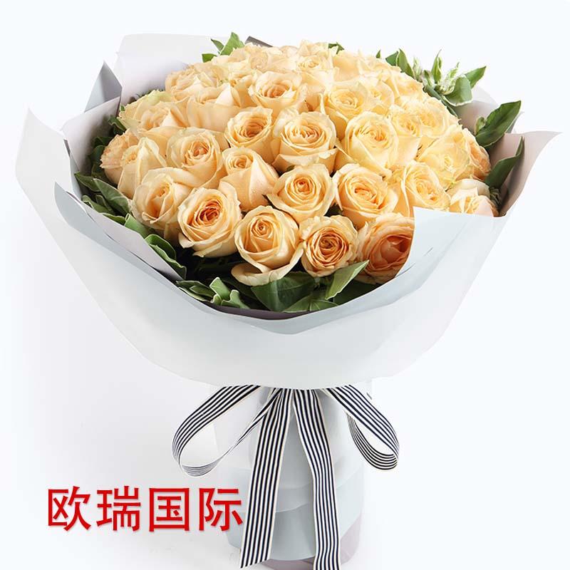33支香槟玫瑰花束 泰国 马来西亚 新加坡 印尼 菲律宾 越南 老挝 柬埔寨 印度 巴基斯坦